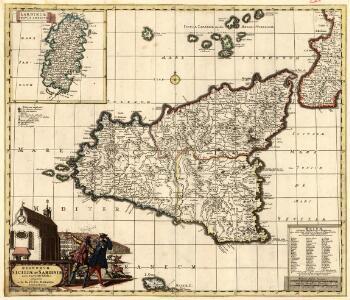Regnorvm Siciliae et Sardiniae nova & accurata Tabula proposita
