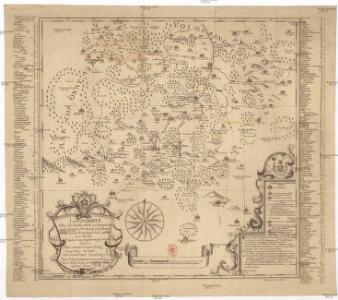 Landcharte über die Reichs Adel Zedwizische und der Cron Boeheim zulehen Rührende Herschaft und gütter zu Ascha welche von folgenden possediret werden