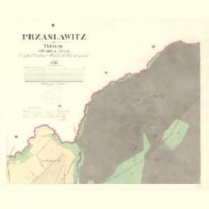 Przaslawitz - m2442-1-002 - Kaiserpflichtexemplar der Landkarten des stabilen Katasters