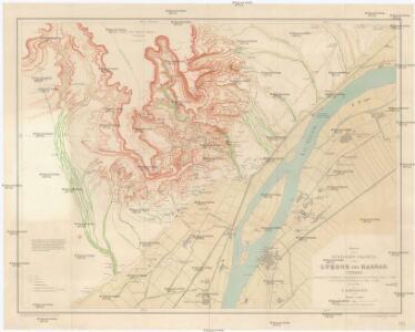 Karte der westlichen Umgebung von Luksor und Karnak (Theben)