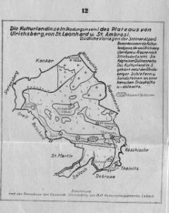 Die Kulturlandinseln (Rodungsinseln) des Plateaus von Ulrichsberg, von St. Leonhard u. St. Ambrosi