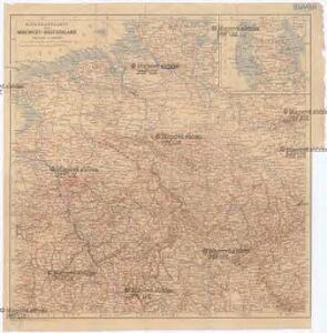 Eisenbahnkarte von Nordwest-Deutschland