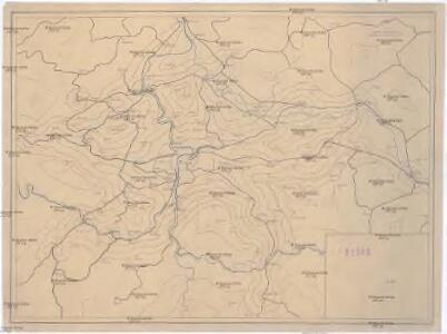[Isochronická mapa okolí Prahy]