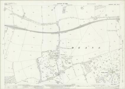 Hampshire and Isle of Wight XVII.12 (includes: Deane; Oakley; Overton; Steventon) - 25 Inch Map