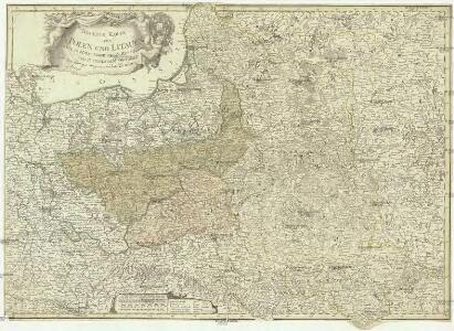 Neueste Karte von Polen und Litauen