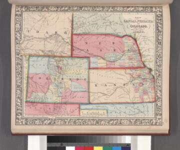 Map of Kansas, Nebraska, and Colorado. Showing also the eastern portion of Idaho.