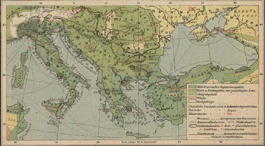 Italien und Balkanhalbinsel. Nebenkarten II. 5. Wirtschaftskarte