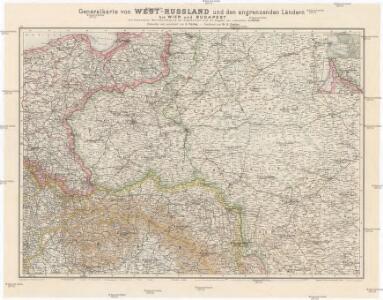 Generalkarte von West-Russland und den angrenzenden Ländern bis Wien und Budapest