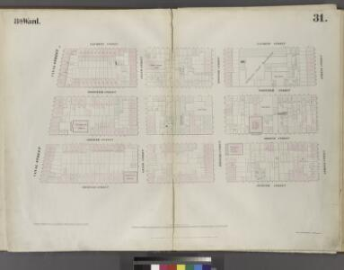 Plate 31: Map bounded by Spring Street, Mercer Street, Canal Street, Laurens Street.