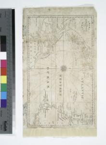 Chart of the Atlantic Ocean: with an illustration of the character and rout[e] of a storm which occurred on the American coast in August 1830 / William Hooker, engraver, New York.
