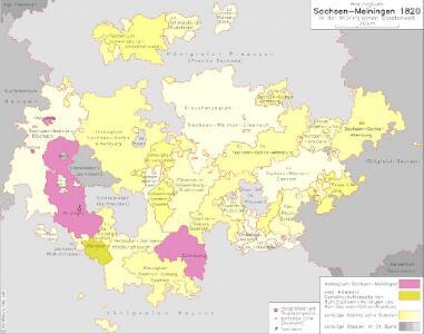Herzogtum Sachsen-Meiningen 1820 in der thüringischen Staatenwelt