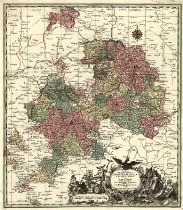 Tabulae Marchionatus Brandenburgico-Culmbacensis sive Baruthini Pars Superior cum adjacentibus Regionibus exhibita