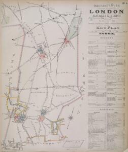 Insurance Plan of London North North West District Vol. D: Key Plan