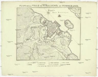 Plan de la ville de Stralsund, en Pommeranie
