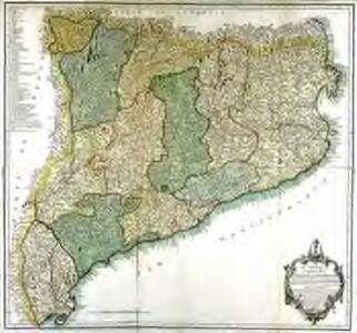 Mapa del principado de Cataluña