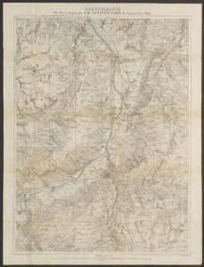 Manöverkarte für die Uebungen der VIII. Armeedivision im September 1884