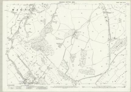 Dorset XXII.10 (includes: Buckland Newton; Minterne Magna) - 25 Inch Map