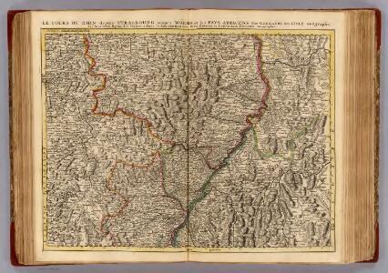 Le Cours du Rhin depuis Strasbourg, jusqu'a Worms et le pays adjacens.