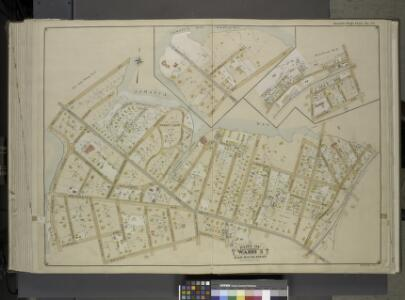 Queens, Vol. 1, Double Page Plate No. 33; Sub Plan    No. 1; [Map bounded by Jamaica Bay, Mott Ave.; Including Point Breeze PL., Bay   St.]; Sub Plan No. 2; [Map bounded by Batler Ave., Wolcott Ave., Mc. Neil Ave.;  Including Central Ave., Seneca St.,