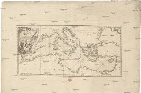 Karte des Mittellaendischen Meers