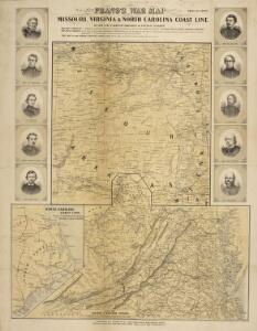 Prang's War Map. Missouri, Virginia & North Carolina Coast Line