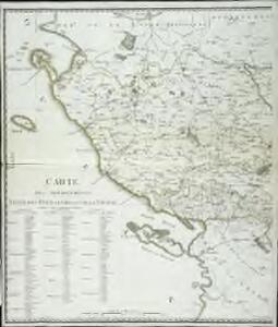 Carte des départements Vengé, des deux Sevres, et de la Vienne, 1