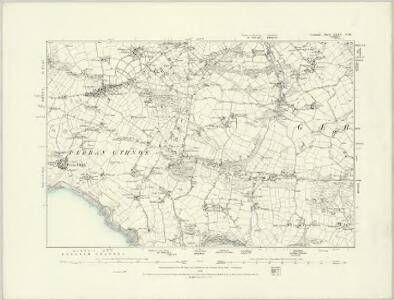 Cornwall LXXV.SE - OS Six-Inch Map