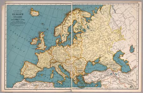 Rand McNally map of Europe