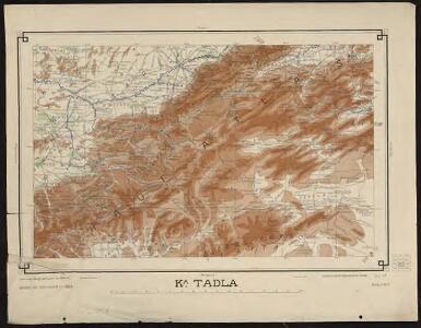 Carte générale du Maroc à l'échelle de 1 : 500 000 e. Kasba Tadla