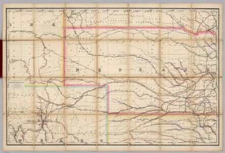 (Nebraska, Colorado) Railroad Map of the United States.