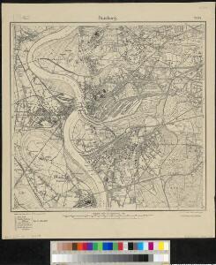 Messtischblatt 2574 : Duisburg, 1913 Duisburg