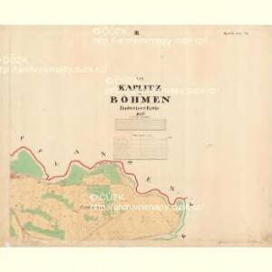 Kaplitz - c3043-1-004 - Kaiserpflichtexemplar der Landkarten des stabilen Katasters