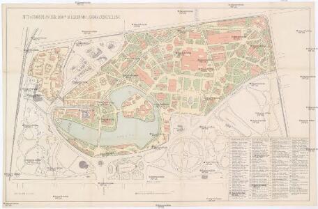 Situationsplan der 1896 Milleniums Landes Ausstelung