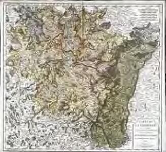 Carte de la Lorraine où l'on a distingué le pays Messin, le Verdunois et le Toulois; le Barrois et l'Alsace