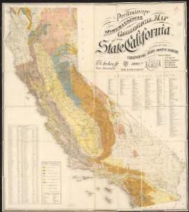 Preliminary mineralogical and geological map of the State of California