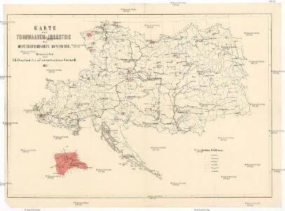 Karte der Thonwaaren-Industrie des Oesterreichischen Monarchie