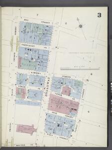 Manhattan, V. 1, Plate No. 3 [Map bounded by Dey St., Nassau St., Rector St., Trinity Pl., Church St.]