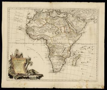 El Africa dividida en todos sus principales reynos segun las vltimas y nuevas observaciones de las Accademias y de Paris y de Londres