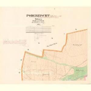 Poderzischt - c5880-1-001 - Kaiserpflichtexemplar der Landkarten des stabilen Katasters