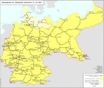 Eisenbahnen im Deutschen Zollverein 31.12.1861