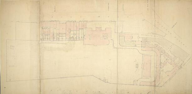 Plan of Carlton House and Garden, Warwick House and Other Houses on the South Side of Pall Mall and Cockspur Street