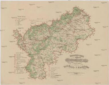 Übersichts-Karte der bedeutendsten Industrial-Unternehmungen nebst Angabe des Waldterrains