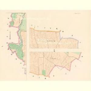 Hlawatetz (Hlawatec) - c1857-1-001 - Kaiserpflichtexemplar der Landkarten des stabilen Katasters
