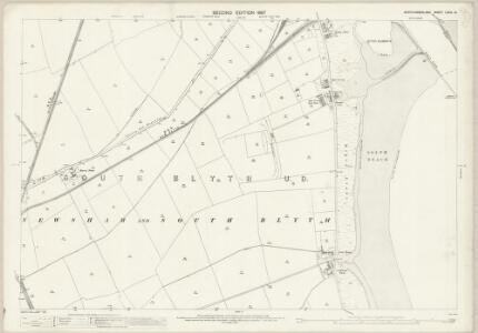 Northumberland (Old Series) LXXIII.14 (includes: Bedlington; Blyth) - 25 Inch Map