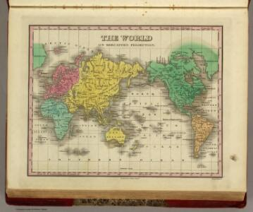 World On Mercator's Projection.