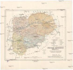 Zólyom vármegye térképe