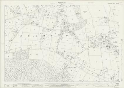 Hampshire and Isle of Wight LXVII.12 (includes: Denmead) - 25 Inch Map