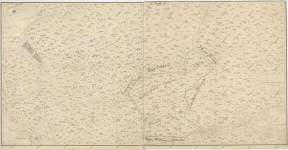 Mapa panských pozemků v katastru obce Ettelried, panství Oberstadion