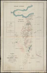 Carte d'un tracé d'un chemin de fer proposé par Oran, Sebdou, le Touat