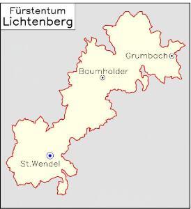 Fürstentum Lichtenberg [1826] [Nebenkarte]
